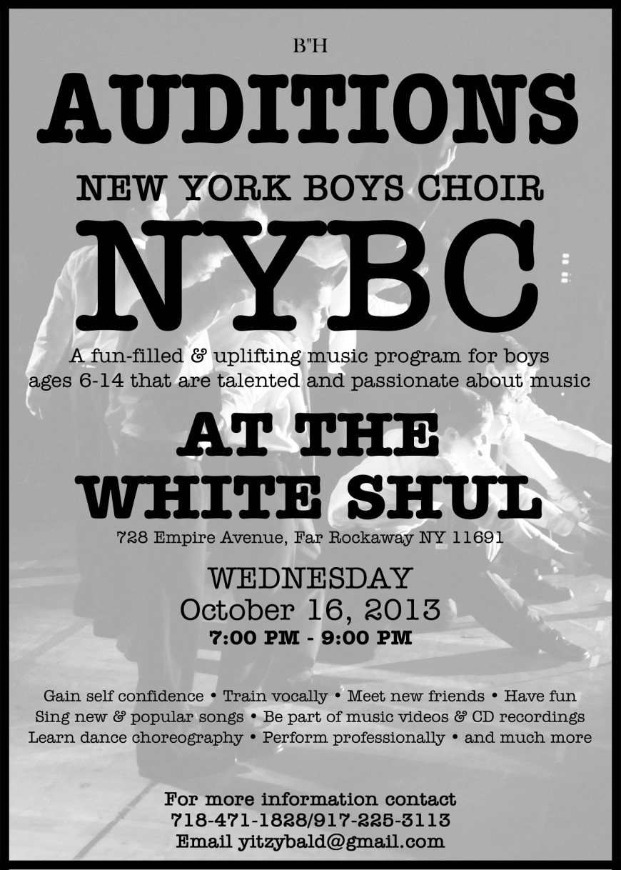 Exciting News: NYBC Auditions