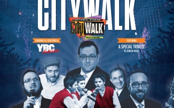 The 12th Universal CityWALK Chanukah Concert with Eli Gerstner & the YBC Soloists, Yisroel Williger, Yoely Greenfeld, Moshe Hecht, Kenny Ellis…