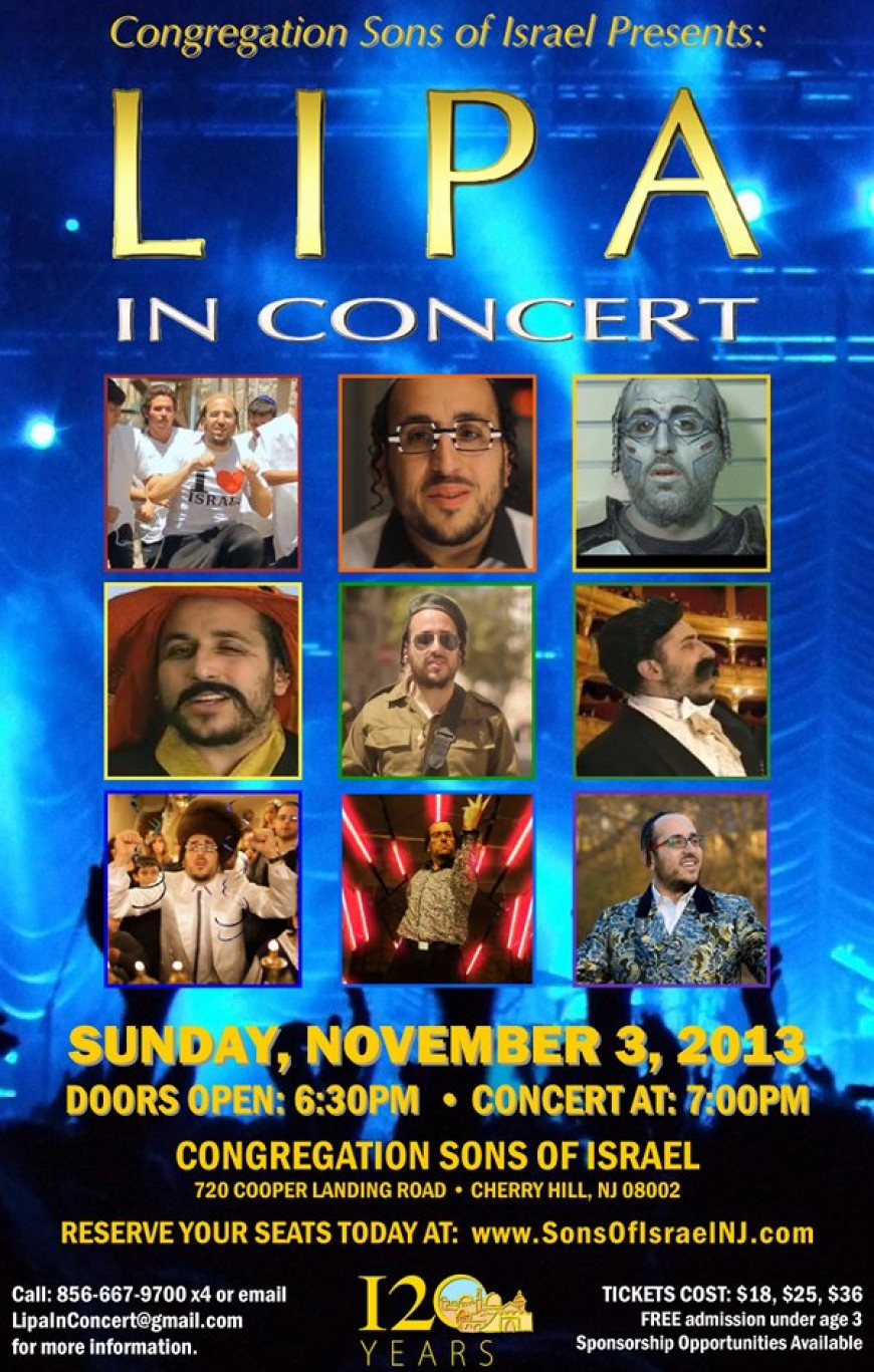 Congregation Sons of Israel present: LIPA In Concert!