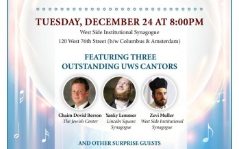Cantorial Kumzits with Yanky Lemmer, Chaim Dovid Berson & Zevi Muller