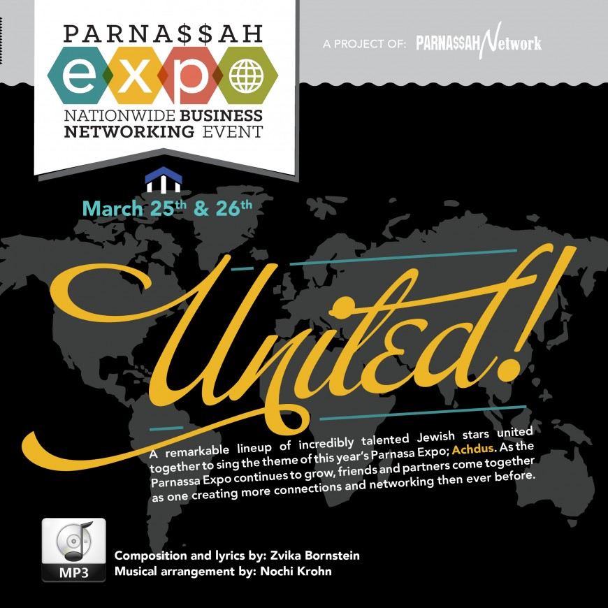 """United: Exciting New Song Released in Honor of Upcoming Parnassah Expo"""""""