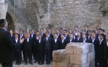 "Shira Chadasha Boys Choir feat. Yishai Sachs Singing ""Chasal"" – חסל"