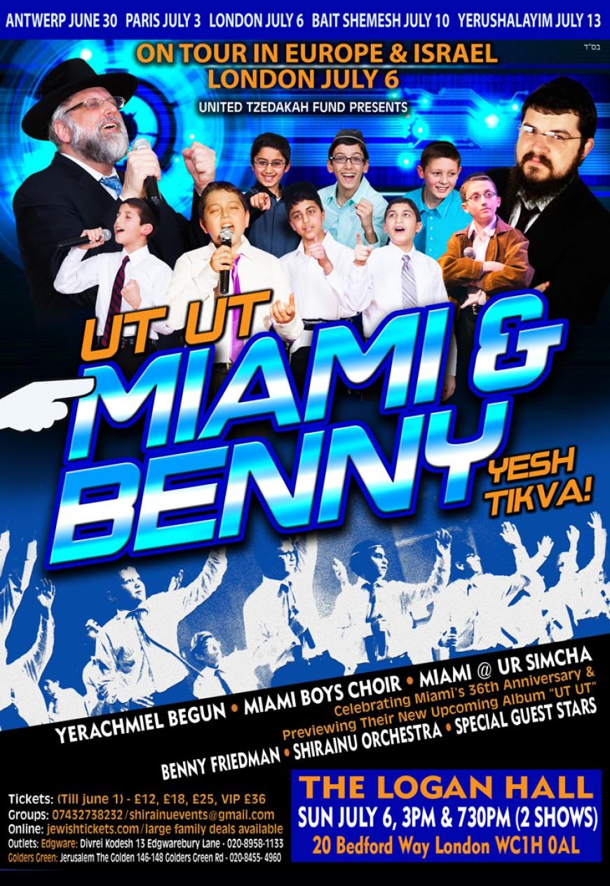 Miami Boys Choir & Benny Friedman Europe & Israel Tour FULL DATES ANNOUNCED!