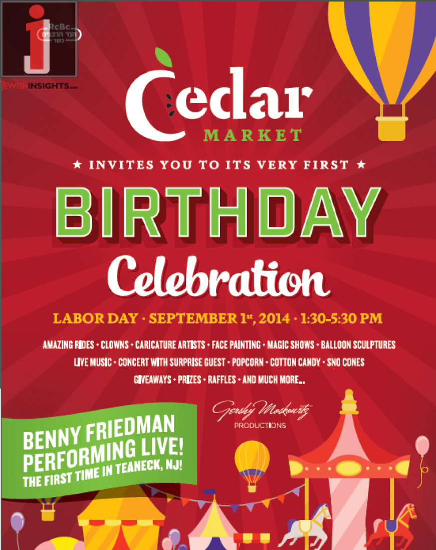 CEDAR MARKET  Invites You To Its Very First  BIRTHDAY CELEBRATION!