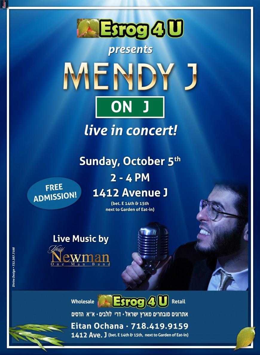 Mendy J On J Live In Concert!