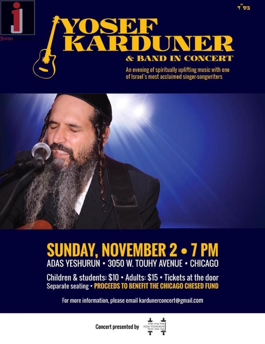 Yosef Karduner & Band In Concert: CHICAGO