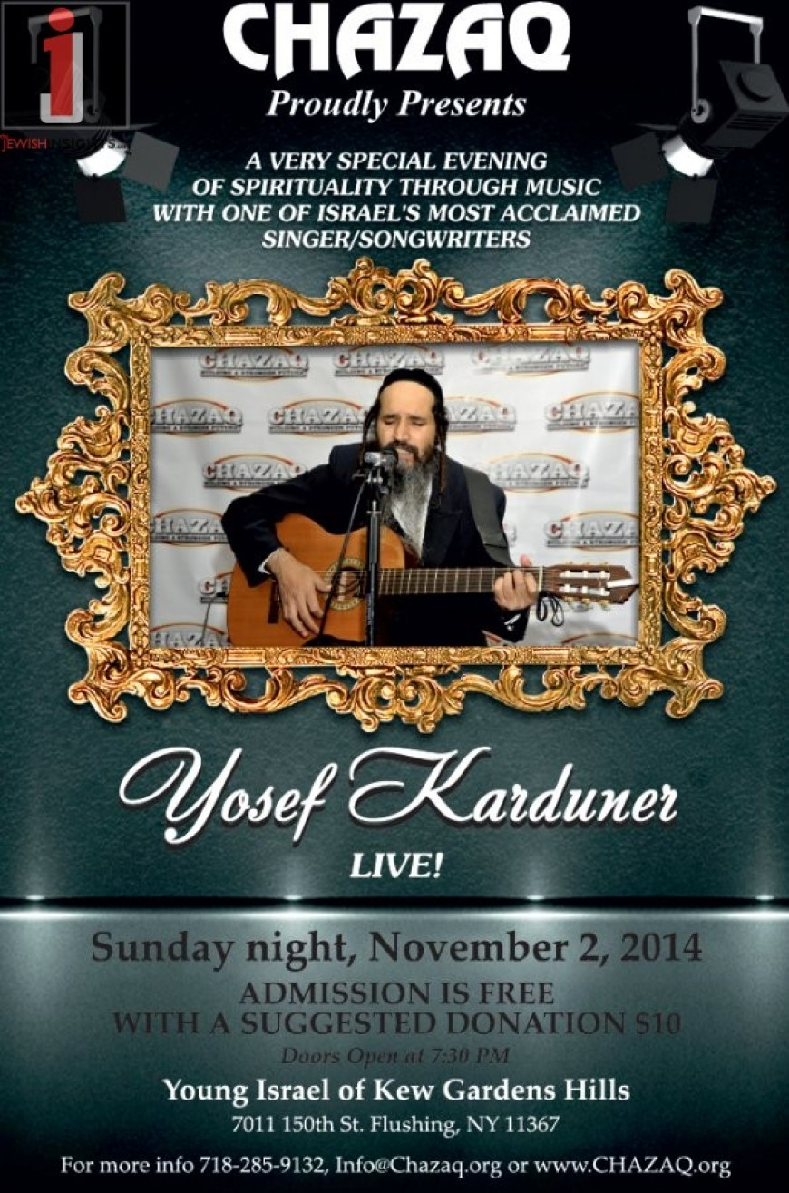 Yosef karduner live for chazaq jewish insights - Young israel of kew garden hills ...
