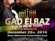 GAD ELBAZ Live in New York!