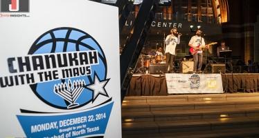 Chabad Celebrates Chanukah with Dallas Mavericks & 8th Day