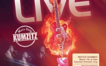 TYA Presents Motzai Shabbos LIVE Men's Only Kumzitz With The Zemiros Group