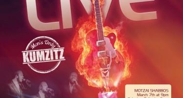 TYA Presents Motzai Shabbos LIVE Men's Only Kumzitz With The Zemiros Group