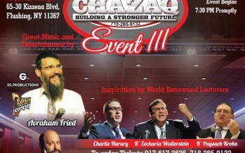 The Big CHAZAQ Event featuring Avraham Fried!