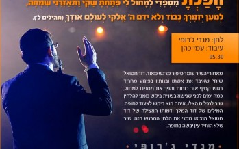 """Mendy Jerufi With The New Hit """"Hofachto"""""""