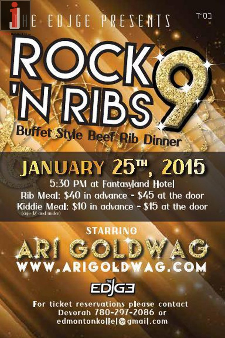 Ari Goldwag In Edmonton for Rock N' Ribs Concert!