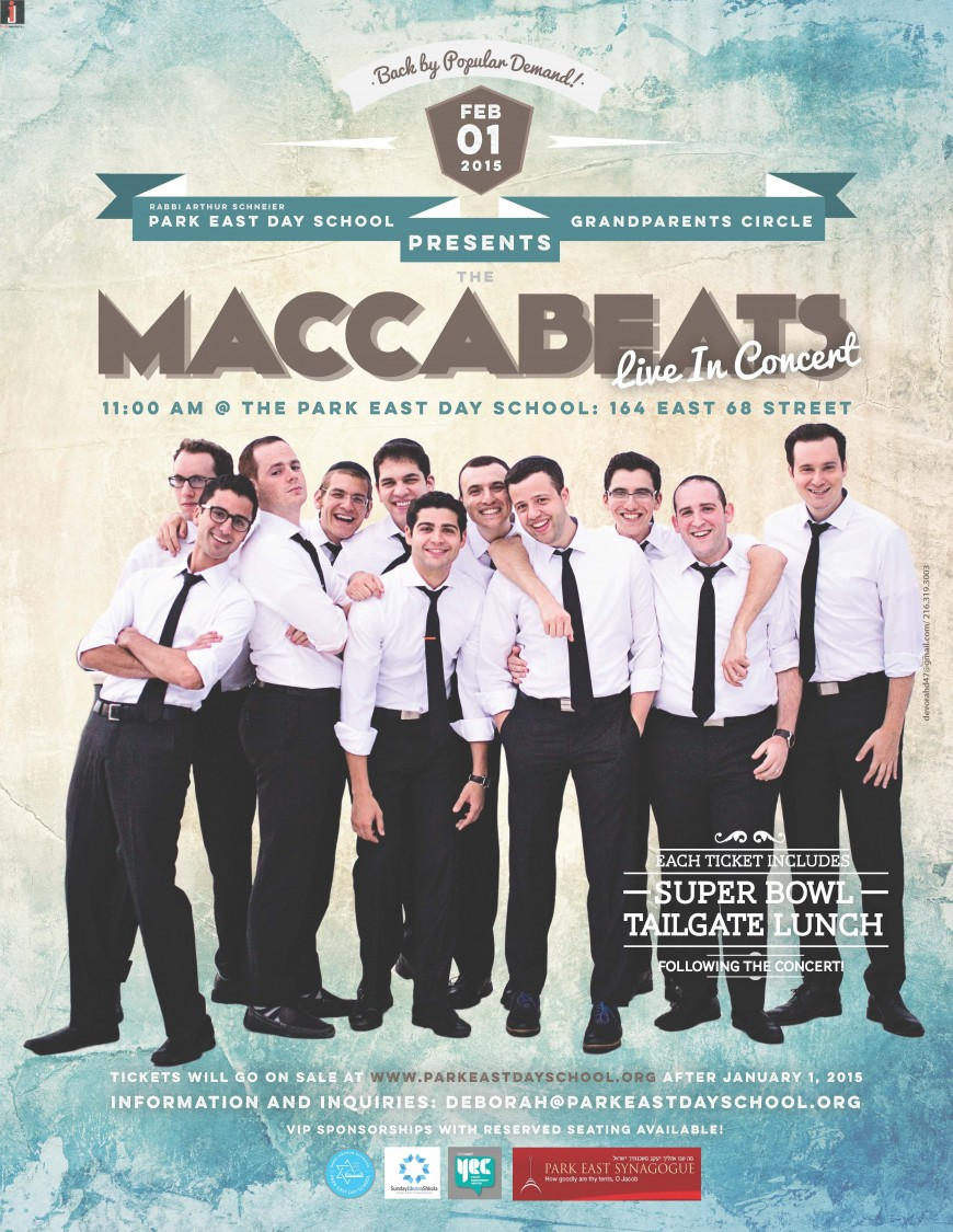 The Maccabeats Are Coming Back To Park East!