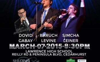 The 6th Annual CAHAL Concert: Dovid Gabay, Baruch Levine & Simcha Leiner