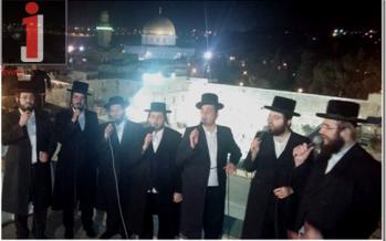 "Malchus Choir Performing ""U'Vneh Yerushalayim"" Acapella Live"