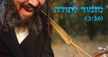 """Mizmor Letoda"" Tzvi Yosef Herzog Sings A Song of Thanks"