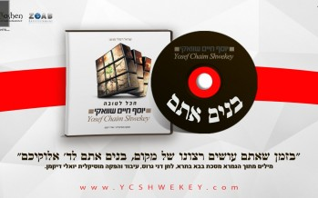 "Yosef Chaim Shwekey With A  New Single ""Bonim Atem"""