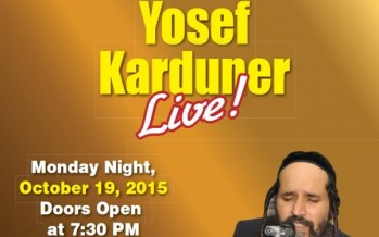 CHAZAQ  Proudly Presents  Yosef Karduner  Live!