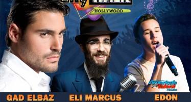 CHANUKAH @ Universale Studios CITY WALK: GAD ELBAZ, EDON, ELI MARCUS, PELLA Singer, Mendy J & More