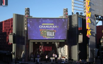 Thousands show solidarity at Universal Studios Hollywood for Chabad of the Valley's Chanukah at CityWalk