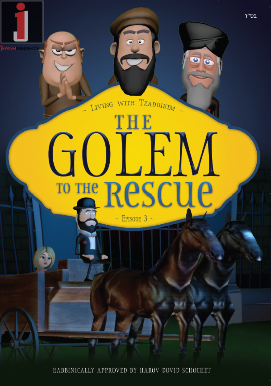 """Brand New DVD for Kids! """"The Golem to the Rescue"""" (Living with Tzaddikim Episode #3)"""