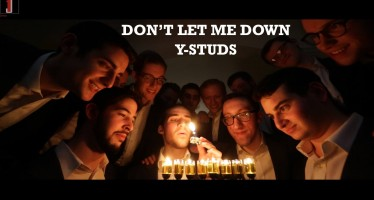 """The Y-Studs Present """"Don't Let Me Down"""", an A Cappella Chainsmokers' Hanukkah Cover"""