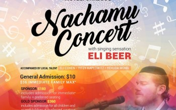 Motzei Shabbos Nachamu Community Chesed Concert! With Eli Beer