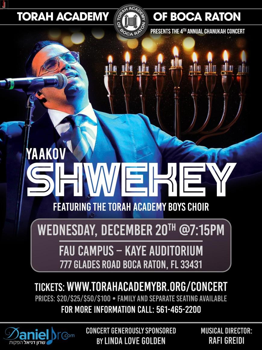 Torah Academy's 4th Annual Concert Featuring Yaakov Shwekey!