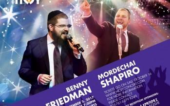 Benny Friedman & Mordechai Shapiro Live in Concert!