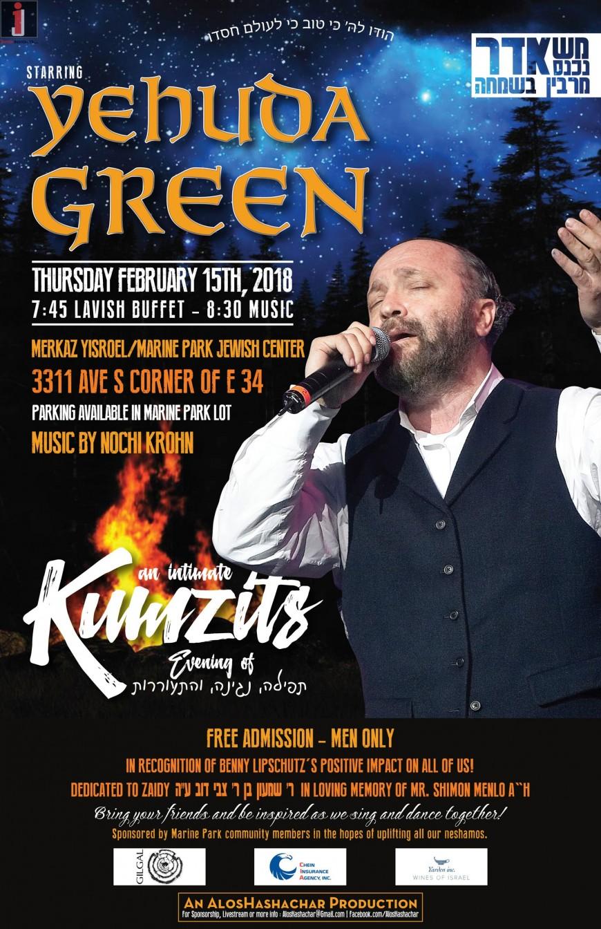 An Intimate KUMZITS With Yehuda Green