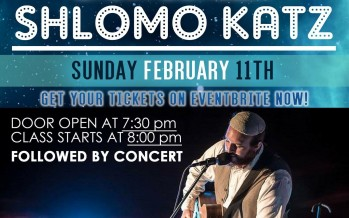 Lighthouse Project Presents Live! Shlomo Katz – A Night of Torah & Music