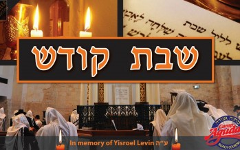 "Camp Agudah: Shabbos Kodesh (Acappella) In Memory of Yisroel Levin A""H"