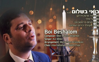 "During The Busy Wedding Season: A Fresh Version of ""Bo'i B'shalom"""