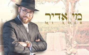 "Singer Shmuly Hurwitz Releases Debut Single ""Mi Adir"" In Honor of Tu B'av"