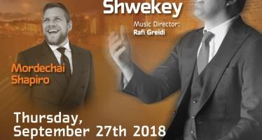 Friends of United Hatzalah of Israel: Sukkot – Concert Extravaganza: YAAKOV SHWEKEY & MORDECHAI SHAPIRO
