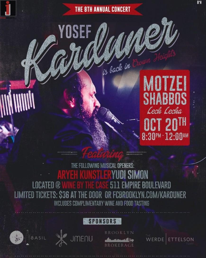 8th Annual Yosef Karduner Concert in Crown Heights!