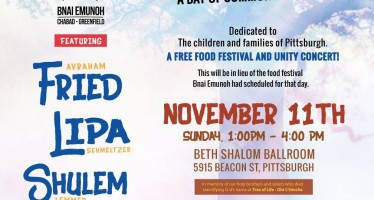 Bnai Emunah Chabad-Greenfield: Stronger Together featuring: Avraham Fried, Lipa Schmeltzer & Shulem, Lemmer