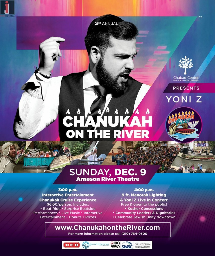 CHANUKAH ON THE RIVER  With YONI Z