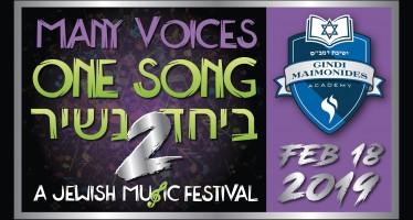 MANY VOICES ONE SONG – BEYACHAD NASHIR 2: FRIED – SHWEKEY – LEVINE – SHAPIRO – SHULEM