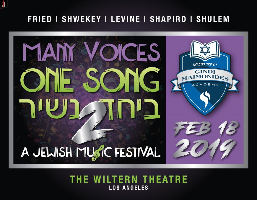 MANY VOICES ONE SONG – BEYACHAD NASHIR 2: FRIED – SHWEKEY – LEVINE – SHAPIRO – SHULEM