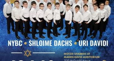 CHANUKAH CONCERT: NYBC, Shloime Dachs, Uri Davidi