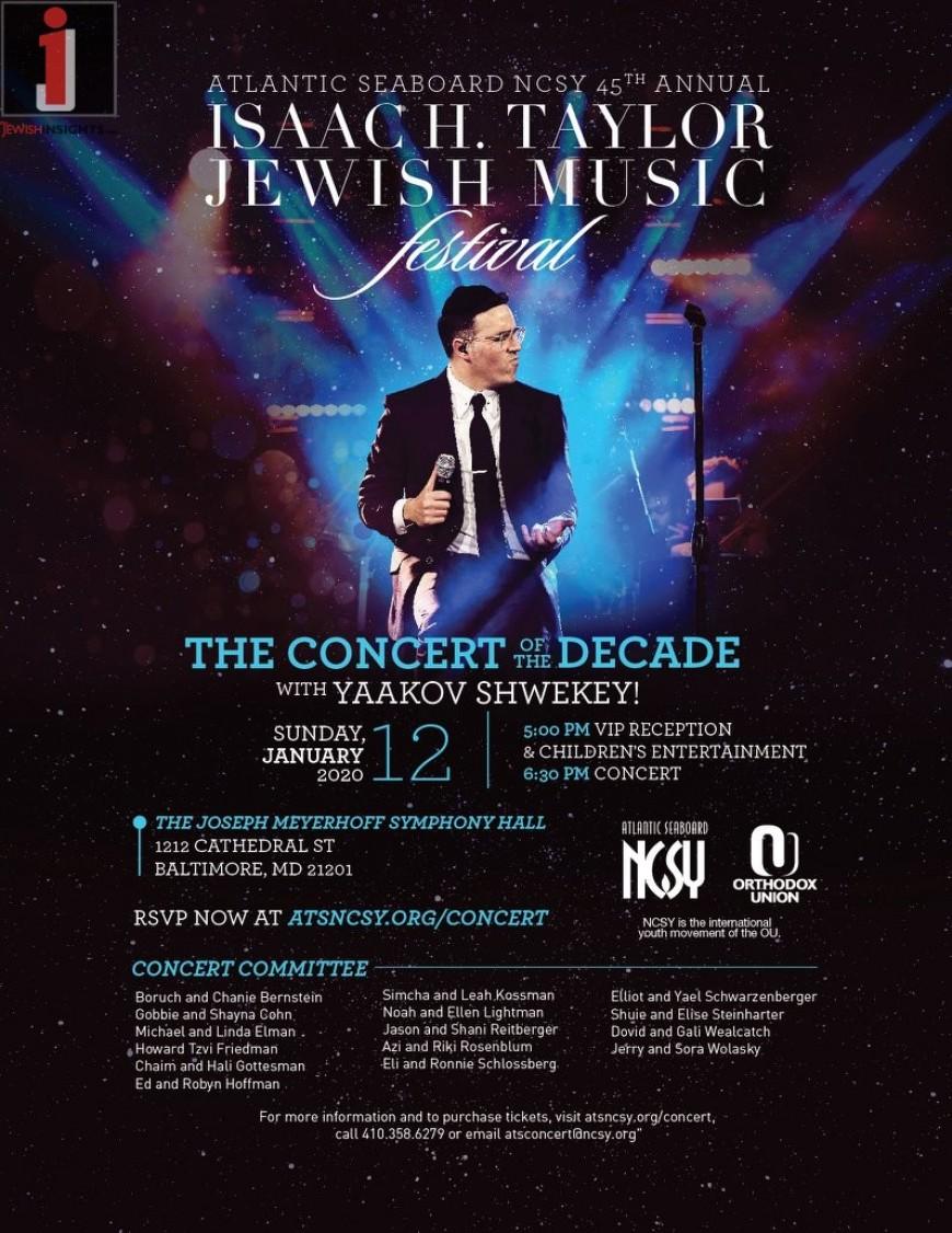 Atlantic Seaboard NCSY 45th Annual Jewish Music Festival With Yaakov Shwekey