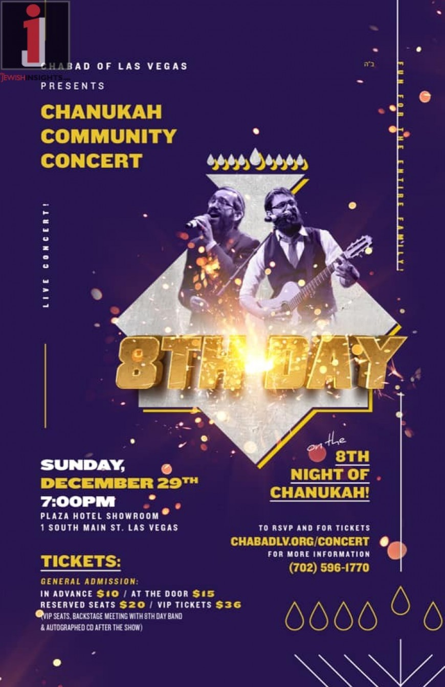 Chabad of Las Vegas Presents: CHANUKAH COMMUNITY CONCERT With 8TH DAY