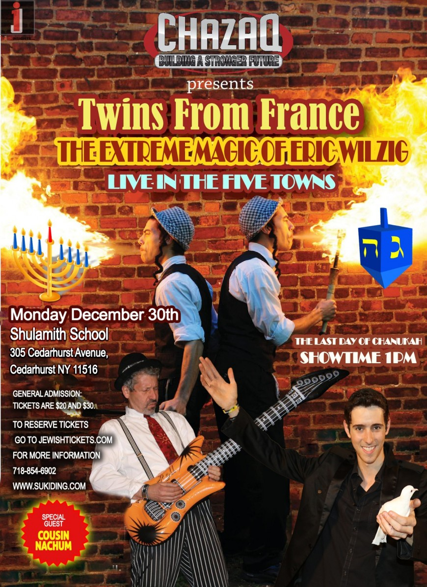 CHAZAQ Presents: TWINS FROM FRANCE & The Extreme Magic of Eric Wilzig