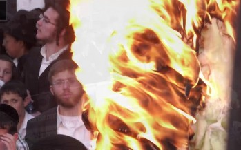 A Video Of The Hadlaka Toldos Avrohom Yitzchok Lighting The Fire In Meron 5779