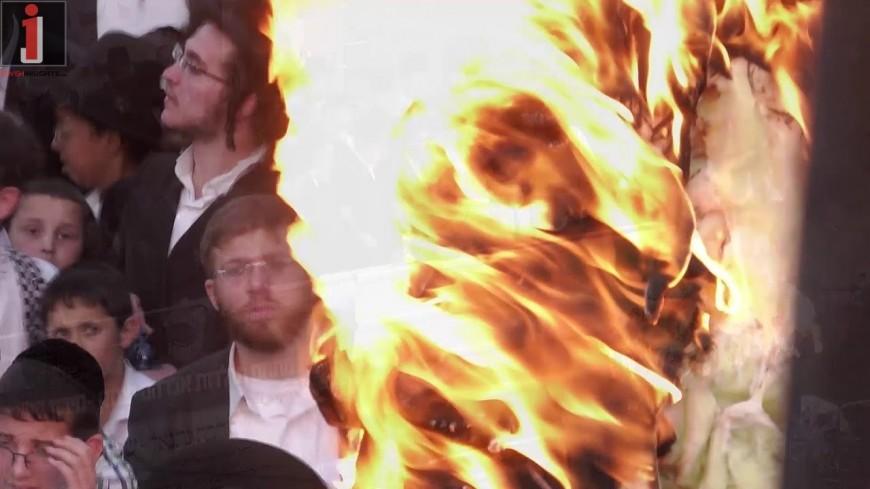 A Video Of The Hadlaka Toldos Avrohom Yitzchok Lighting The Fire In Meron 5779