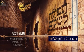 """Tefillah for Yerushalayim"" Moshe Zaretsky With An Acapella Version"