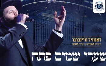 "Zanvil Weinberger Shouts Out To Tens of Thousands ""Shaarei Shomayim Pesach"""